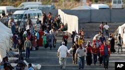土耳其一个边境城市为来自叙利亚的难民提供安身之地