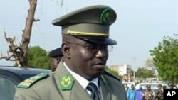 A picture taken on August 3, 2010 shows Niger's number two junta leader Colonel Abdoulaye Baide during ceremonies for the 50th anniversary of the country's independence in Niamey. Abdoulaye Badie, is under arrest at military headquarters in Niamey, a mili