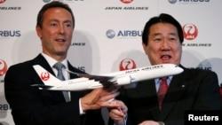 7일 일본항공과 프랑스 에어버스사가 항공기 수주계약을 체결했다.