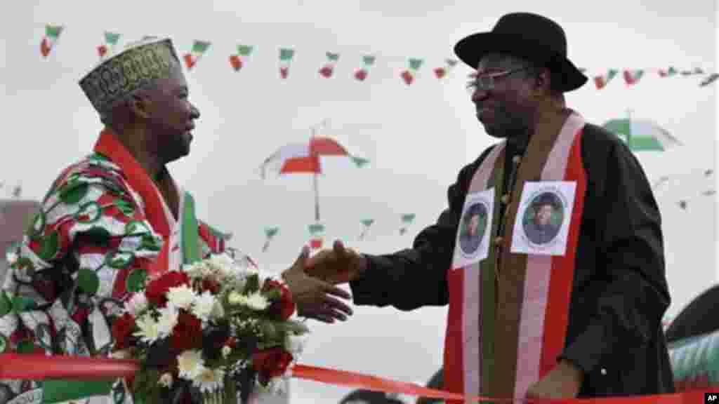 Shugaban Najeriya Goodluck Jonathan da Mataimakin Shugaban Namadi Sambo, 11 ga Nuwamba 2014.
