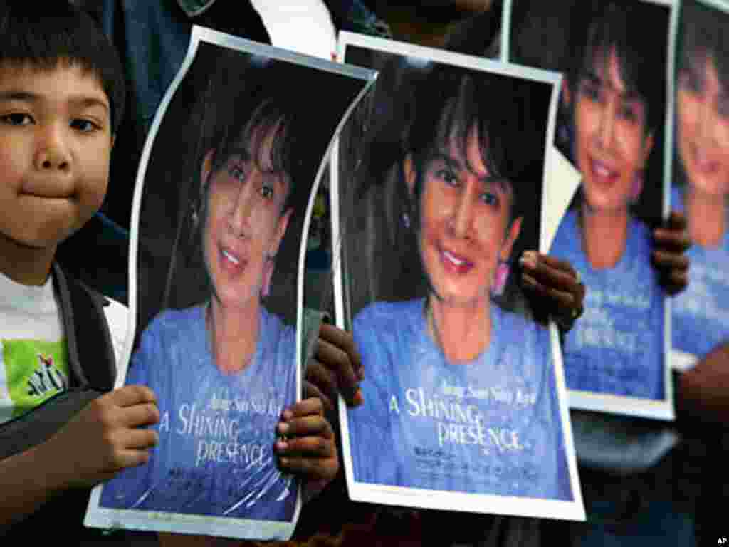 Aung San Suu Kyi was detained in 2003 after her supporters clashed with pro-government demonstrators. Her arrest sparked several protests. (AP)