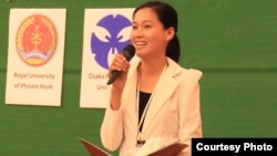 """Sok Sikieng, a """"Technovation Ambassador"""" for Cambodia, is working to empower women in the technology sector. (Courtesy Photo)"""