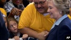Hillary Clinton haciendo campaña en Toledo, Ohio. Octubre 3 de 2016.