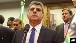 Romero Juca, ministre de la Planification, Brasília, 29 mars 2016
