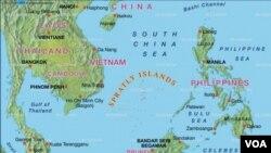 """Tiongkok mendirikan kota baru """"Sansha"""" di pulau sengketa dan mengangkat dua perwira senior untuk pertahanan kota tersebut (Foto: peta wilayah kepulauan sengketa)."""