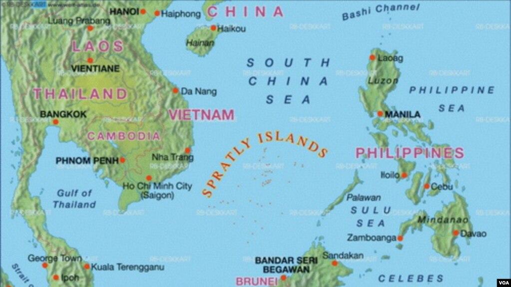 Bản đồ khu vực Biển Đông