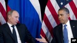 Rossiya va AQSh prezidentilari - Vladimir Putin va Barak Obama