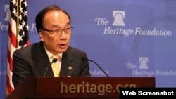 香港公民黨主席梁家傑在傳統基金會發表演說 (照片來源:公民黨網頁)