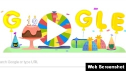 Google celebrated its 19th birthday on September 27 with a special doodle.