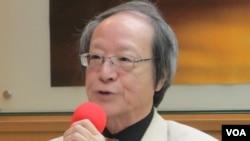 台湾前国策顾问金恒炜(美国之音张永泰拍摄)
