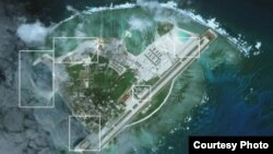Hình ảnh đảo Phú Lâm chụp từ vệ tinh vào ngày 28/1/2017.