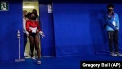 La gymnaste américaine Simone Biles, le mardi 27 juillet 2021, à Tokyo.