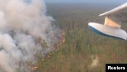Пожар в Красноярском крае, 1 августа 2019 года