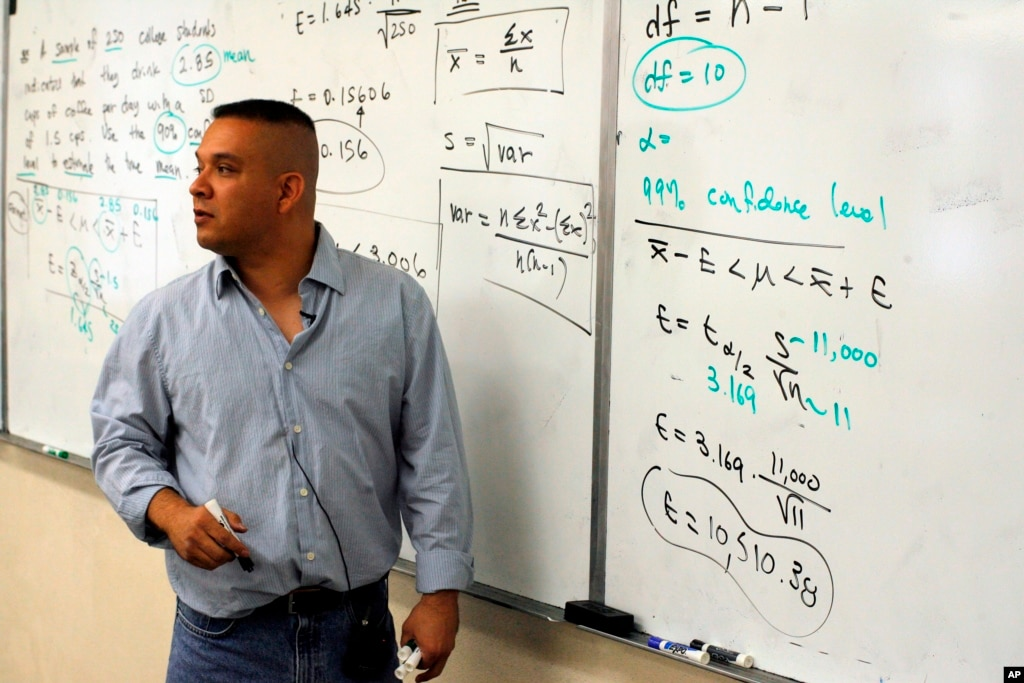 East Los Angeles College Math instructor Daniel Judge, teaches ...