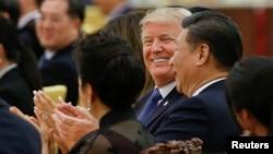Tổng thống Mỹ Donald Trump trong chuyến thăm Trung Quốc cuối năm ngoái.
