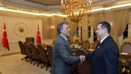 Predsednik Turske Abdulah Gul primio jeu Ankari premijera Srbije Ivicu Dačića i druge članove srpske delegacije koji su doputovali u dvodnevnu posetu Turskoj