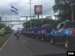 Manifestantes fueron reprimidos por la Policía Nacional de Nicaragua el domingo 30 de junio de 2019.