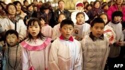 Прихожане китайской католической церкви