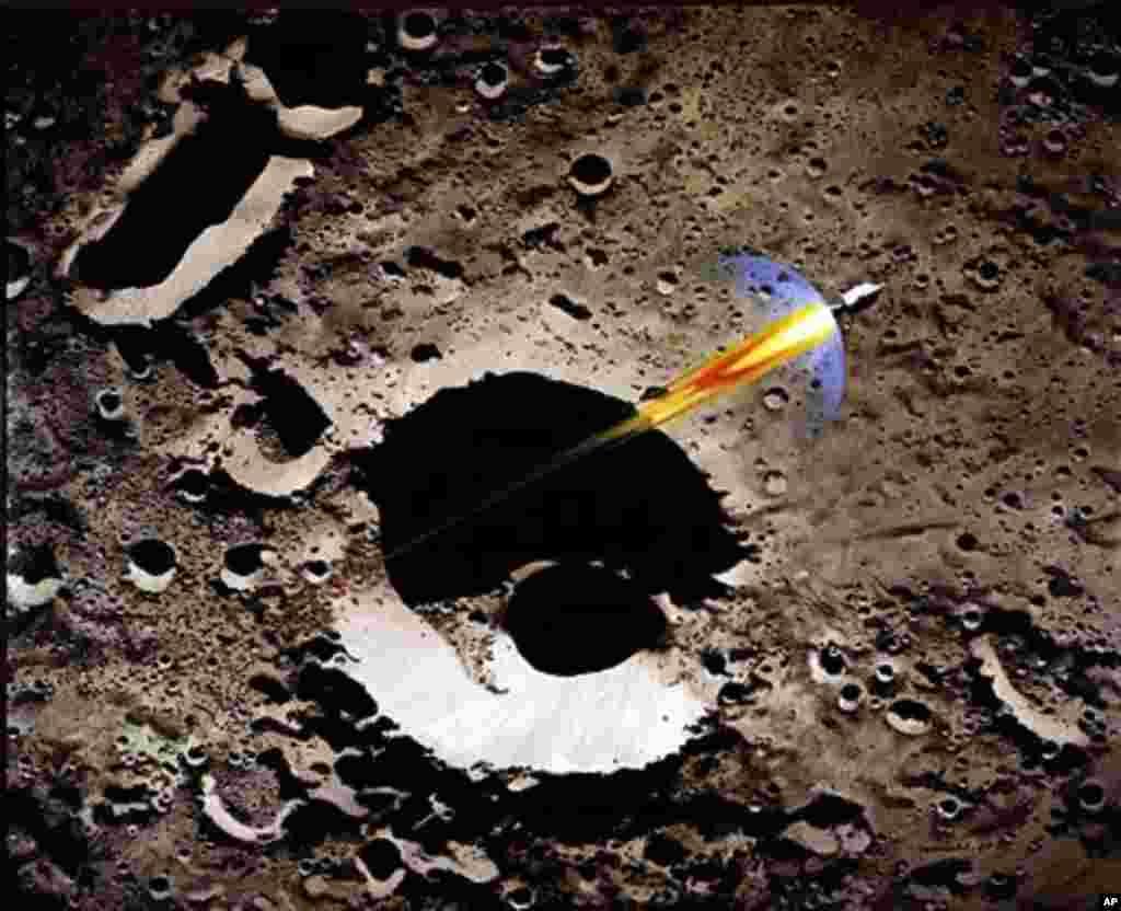 """太空画家罗伯特.麦考尔(Robert McCall)笔下的""""阿波罗""""8号飞离月球轨道返回地球的时刻。"""