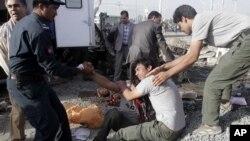 9月18日发生在喀布尔的自杀爆炸现场