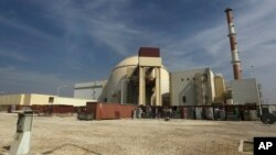 FILE - Reactor building of the Bushehr nuclear power plant just outside the southern city of Bushehr, Iran, Oct. 26, 2010.