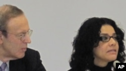 Mona Eltahawy, Egyptian Journalist/Blogger, right, and Carl Gershman, President, National Endowment for Democracy