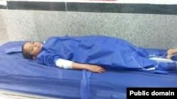عکسی منتسب به یعقوب بندو، دانشآموز مجروح چابهاری
