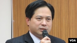 台湾经建会副主委 吴明机(美国之音张永泰拍摄)
