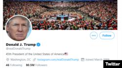 Twitter của Tổng thống Trump.