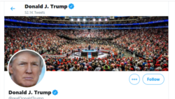 Twitter a masqué vendredi un message de Donald Trump