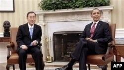 Cuộc hội đàm giữa Tổng thống Obama và Tổng thư ký Ban Ki Moon diễn ra vào lúc Hoa Kỳ cứu xét thêm các phương án cần áp dụng để đối phó với vụ đổ máu ở Libya
