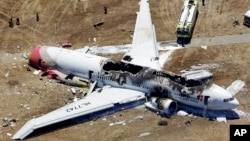 Chiếc Boeing 777 của hãng Asiana bị rơi trong lúc hạ cánh xuống phi trường ở San Francisco hôm thứ bảy tuần trước.