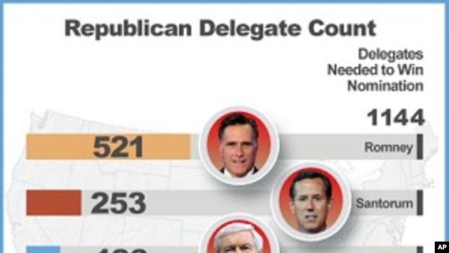 Republican Delegate Count, March 19, 2011.