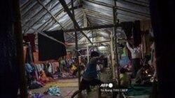 ကခ်င္ျပည္နယ္ တနိုင္းေဒသ စစ္ေရွာင္စခန္းတခု (ဓာတ္ပံု - AFP)