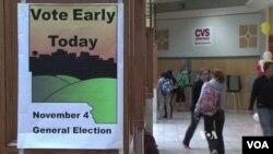 愛奧華州的選舉站已早早開門,選民從9月底就開始提前投票。(視頻截圖)