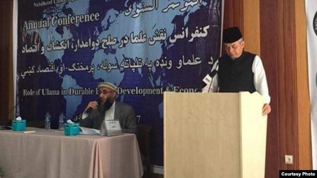 Wakil Nahdlatul Ulama berbicara pada Konferensi Tahunan NU-Afghanistan di Kabul, 11 Agustus 2018. (Courtesy: KBRI Kabul, Afghanistan)