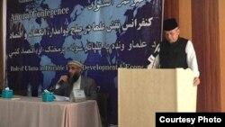 Dubes RI untuk Afghanistan, Dr. Arief Rachman (kanan), berbicara pada Konferensi Tahunan NU-Afghanistan di Kabul, 11 Agustus 2018. (Courtesy: KBRI Kabul, Afghanistan)