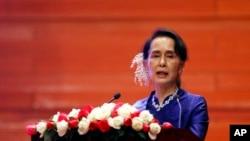 Aung San Suu Kyi, pemimpin de facto Myanmar