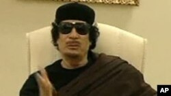 Mouammar Kadhafi, l'ex-dirigeant libyen.