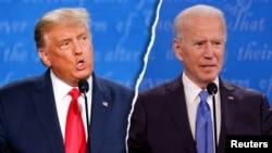 共和党候选人、现任总统特朗普和民主党候选人、前副总统拜登在最后一场总统辩论中激烈交锋