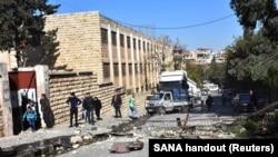 2016年11月20日反政府武裝在敘利亞政府控制的西部阿勒頗炮擊造成的破壞
