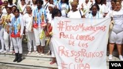 Las Damas de Blanco protest en La Habana, Cuba, el pasado 20 de marzo.