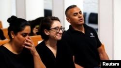 美國學生勞拉·阿爾加塞姆在以色列最高法院出庭。 (2018年10月17日)