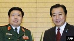 Thủ tướng Nhật Bản Yoshihiko Noda tiếp Bộ trưởng Quốc phòng Việt Nam Phùng Quang Thanh tại Tokyo hôm 24/10/11