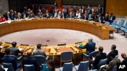 Le Conseil de sécurité de l'ONU, 24 février 2018.