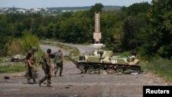 Tentara Ukraina siaga di Slovyansk, Ukraina timur (5/7).