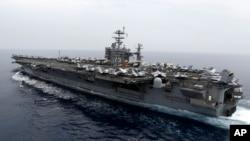 Tàu sân bay hạt nhân USS Harry S. Truman tại một vị trí bí mật ở biển Địa Trung Hải.