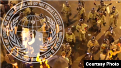 国际黑客组织匿名者(Anonymous)发布带有其徽标的视频,向香港政府宣战。(2014年10月2日)