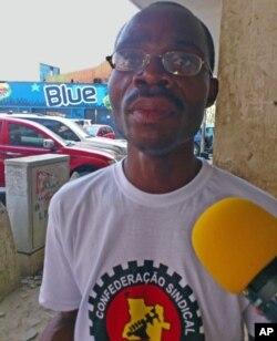 António Kileba, porta-voz do Sindicato Enfermeiros de Angola