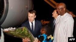 En images : visite d'Emmanuel Macron à Ouagadougou